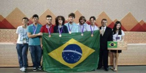 Equipe brasileira na 56ª Olimpíada Internacional  de Matemática.