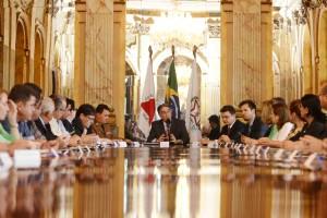 Governador Fernando Pimentel recebe prefeitos do Rio Doce. 19-11-2015- Palaácio da Liberdade. Foto: Manoel Marques/imprensa-MG
