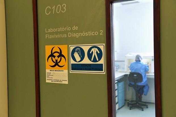 Laboratório de Flavivírus do Instituto Oswaldo Cruz - Fiocruz fez detecção pioneira de zika no líquido amniótico de mulher grávida de bebê com microcefalia em novembro (Foto: Gutemberg Brito/IOC/Fiocruz/Divulgação)