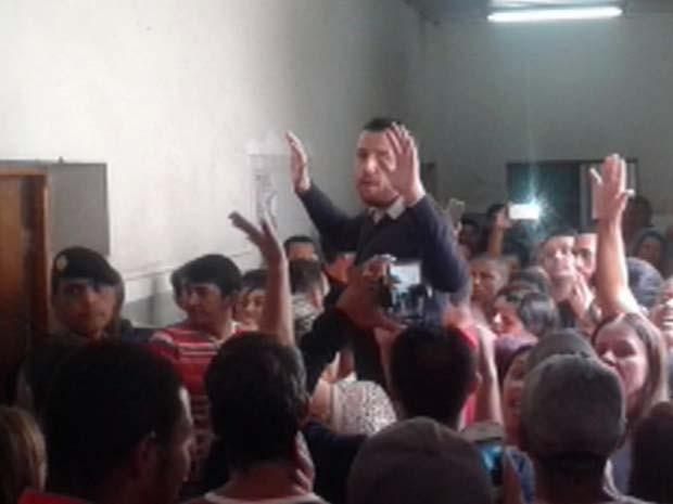 Provas de concurso tiveram tumulto neste fim de semana em Caxambu (Foto: Reprodução EPTV)