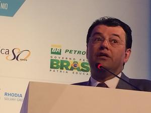 Ministro de Minas e Energia, Eduardo Braga (Foto: Darlan Alvarenga/G1)