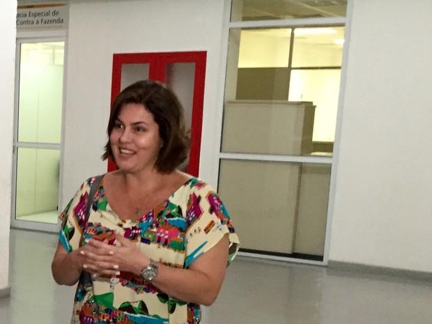 Roberta Santigo depôs sobre suposta fraude no carnaval do Rio (Foto: Henrique Coelho/G1)