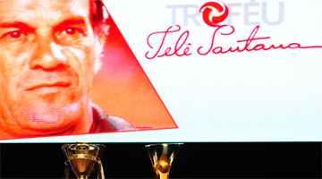Prêmio é uma homenagem ao ex-técnico Telê Santana, que comandou Atlético, São Paulo e Seleção