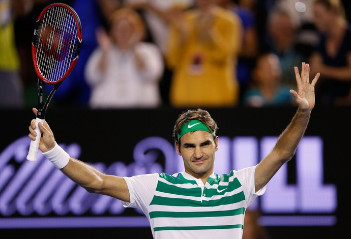 Roger Federer em sua última competição, o Aberto da Austrália (Foto: Getty Images)