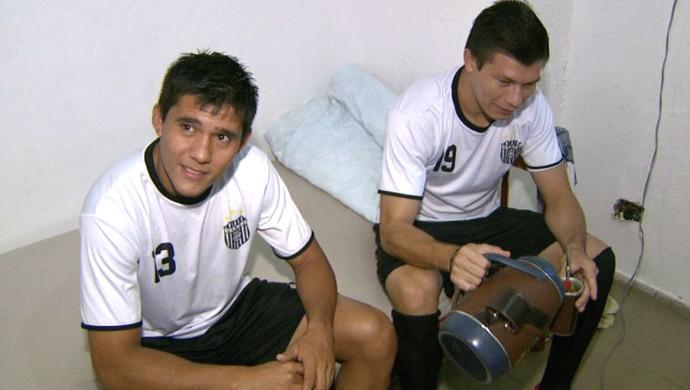 Melgarejo e Samudio irão atuar pelo Boa Esporte após defenderem o Barbarense na A2 (Foto: Reprodução EPTV)