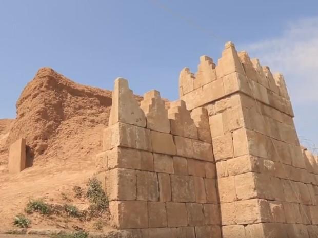 Templo de Nabu foi demolido na última segunda-feira (Foto: Reprodução/YouTube/War Explosions)