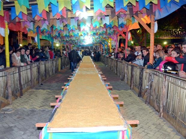Cidade volta a bater recorde com pé de moleque de 21 metros em Piranguinho (Foto: Luciano Lopes)