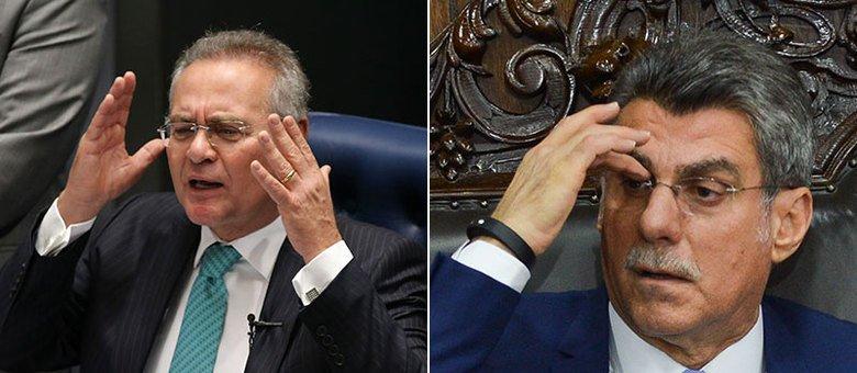 O presidente do Senado, Renan Calheiros, nega que haja um acordo entre líderes para barrar eventuais prisões Montagem/Agência Brasil