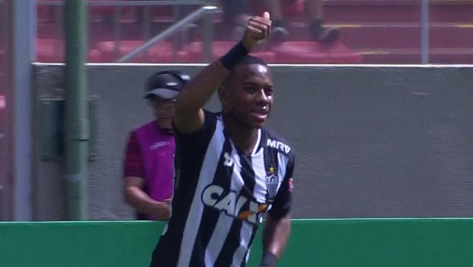Gol de Robinho fez o Atlético-MG quebrar o jejum de vitórias diante do Coelho (Foto: Reprodução/Premiere)