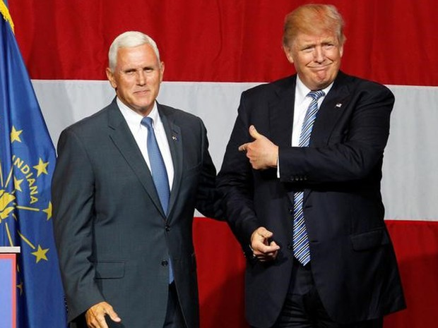 Mike Pence, o governador de Indiana (Foto: REUTERS/John Sommers II) O provável candidato republicano à presidência dos Estados Unidos, Dona