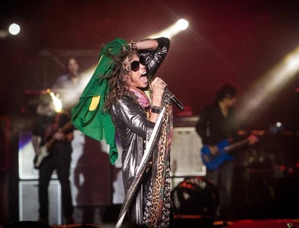 "Banda Aerosmith faz show da turnê ""The Global Warming"" na Apoteose, no centro do Rio de Janeiro"