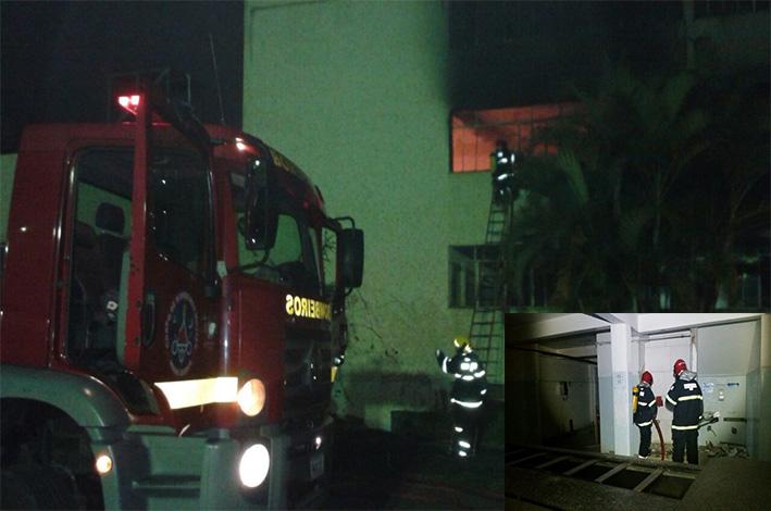 Complexo Santa Cruz pegou fogo na noite de domingo. / Foto: Corpo de Bombeiros.
