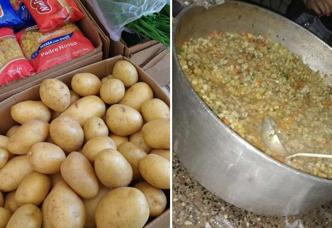 O sopão foi preparado com muito carinho pelas funcionárias do Buffet La Comparsita. (Foto: Divulgação )