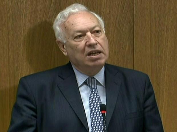 Ministro espanhol José Manuel Garcia-Margallo (Foto: reprodução Globo News)