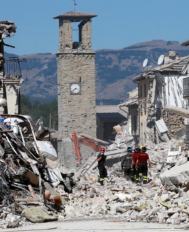 Amatrice foi município mais afetado pelo terremoto que atingiu na última quarta-feira (Foto: Antonio Calanni/AP)