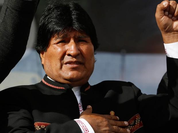 O presidente da Bolívia, Evo Morales, em foto de 22 de fevereiro (Foto: AP Photo/Juan Karita, File)