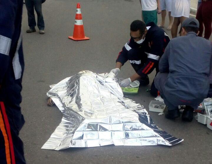 Após a colisão, José Paulo Correa, de 59 anos, foi arremessado contra o chão. Foto: Blog do Madeira