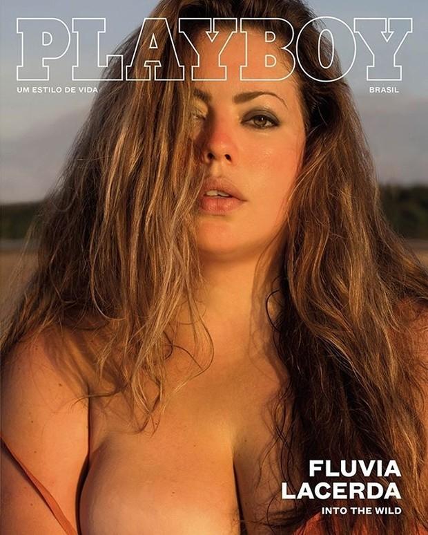 Fluvia Lacerda na capa da Playboy (Foto: Divulgação)