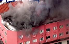Incêndio atinge prédio em Osasco