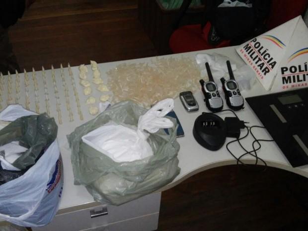 PM apreende cerca de 4 kg de cocaína em Poços de Caldas(Foto: Polícia Militar)