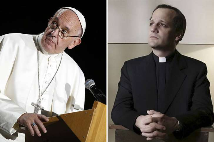 Papa Francisco e o ator Rodrigo De La Serna.