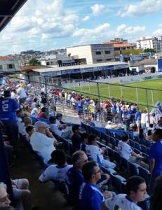 Ofensa teria partido de torcedor da URT durante o jogo válido pela 1ª rodada do Campeonato Mineiro (Foto: Paulo Barbosa)