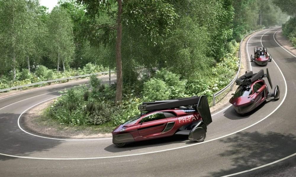 Carro recolhe as hélices para rodar nas ruas (Foto: Divulgação)