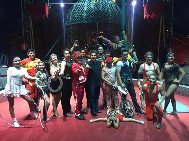 Liderado pelo ator Marcos Frota, Circo Maximus se apresenta em Varginha a partir desta sexta-feira (Foto: Reprodução EPTV)