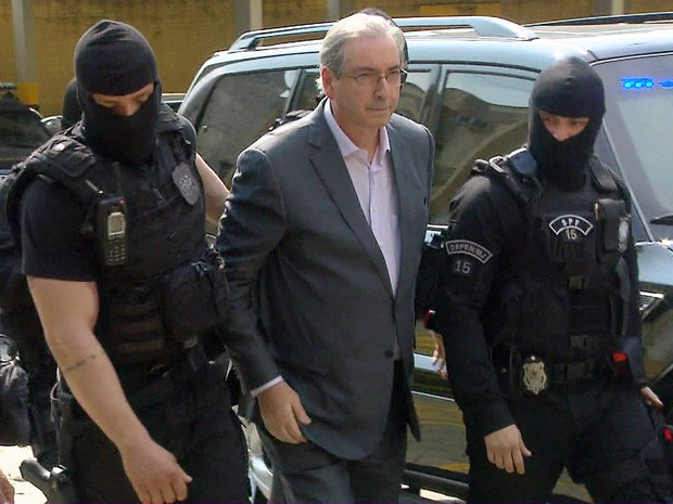 Cunha está preso desde 19 de outubro (Foto: Reprodução/TV Globo)