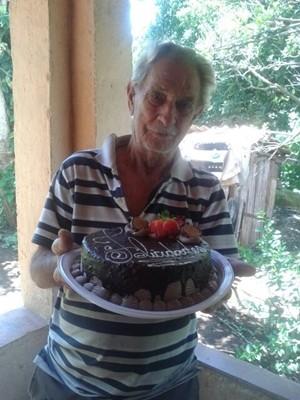 Benedito Barbosa da Silva, de 81 anos, não resistiu e morreu após levar picada de cobra em Cambuí (Foto: Arquivo pessoal / Valéria de Fátima Brito)
