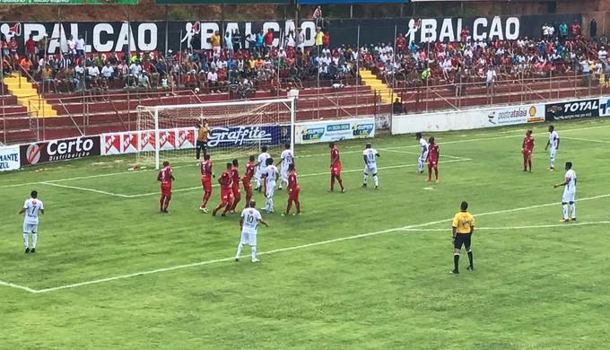 América TO bateu a Caldense no estádio Nassri Mattar (Foto: América TO/Divulgação)
