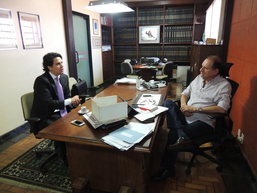 Diretor editor chefe do CSul, Antonio Carlos Medes Campos, recebeu a visita do Dr. Giovani