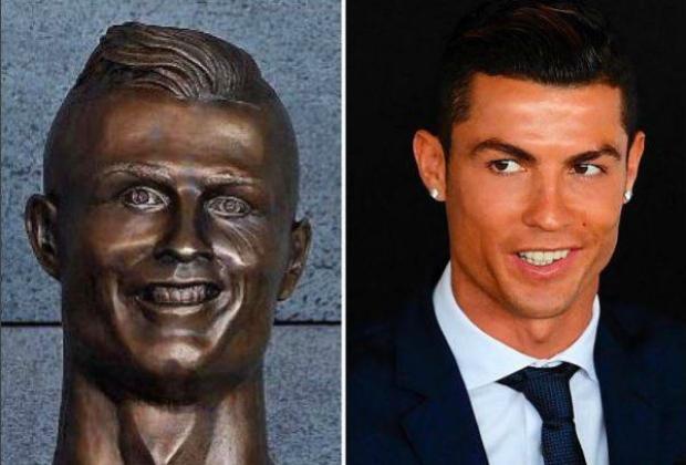 Busto de bronze de Cristiano Ronaldo não ficou muito normal