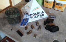 Polícia Militar do Meio Ambiente de Varginha apreende pistola após denúncia de caça