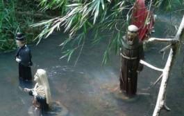 Imagens sacras são encontradas dentro de rio em Porto Firme