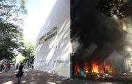 Ato contra Temer em Brasília tem confronto; prédios da Esplanada são evacuados