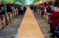 Pé de moleque gigante de Piranguinho chega a 22 metros em noite de festa