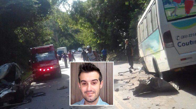 Universitário morre em acidente entre carro e ônibus em Três Corações