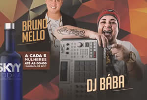 Bruno Mello e o Dj Bába no Laynkaza Universitário