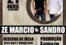 Zé Marcio e Sandro se apresentam neste sábado no Forró dos Aposentados