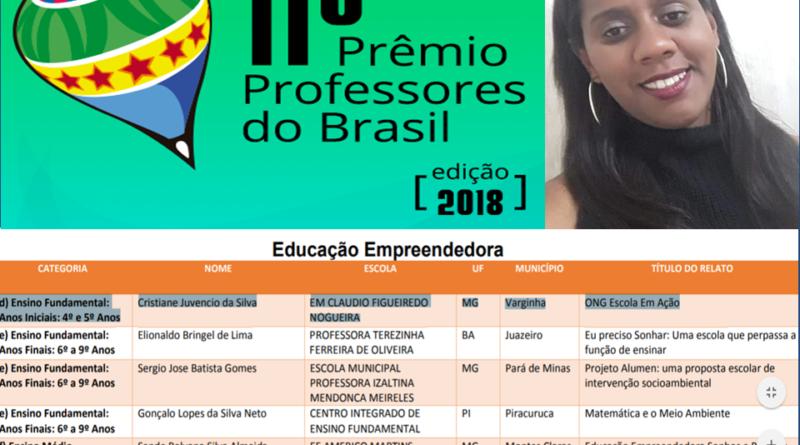 Professora municipal é premiada na etapa das temáticas especiais