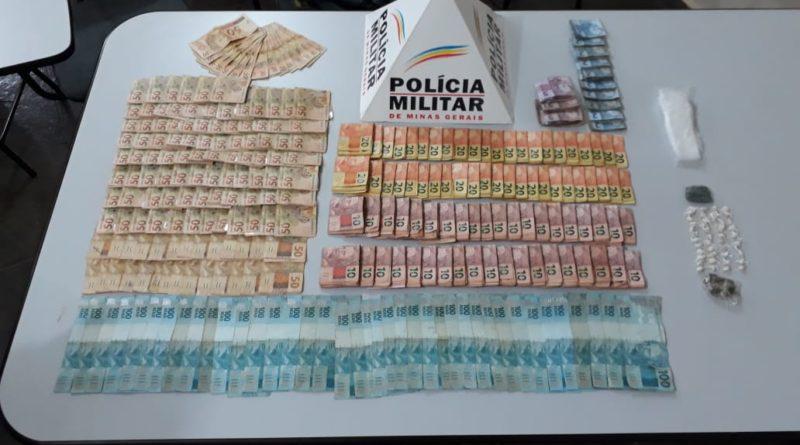 PM prende autores e apreende menores, drogas e dinheiro em Varginha e Três Pontas durante o final de semana