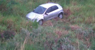 Motorista fica ferido em acidente na BR-267, no trevo de Seritinga
