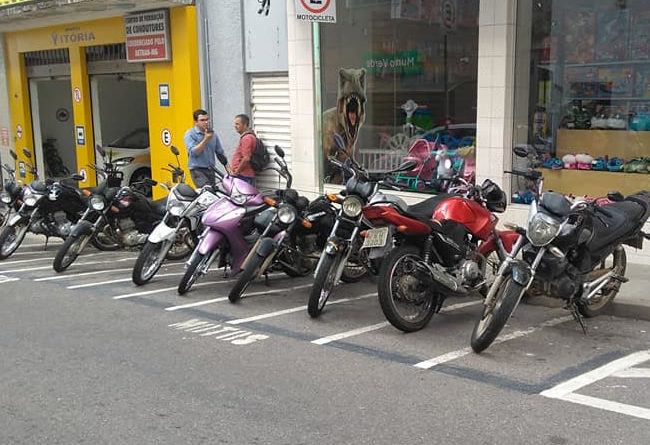 Área Azul para motos não será cobrada