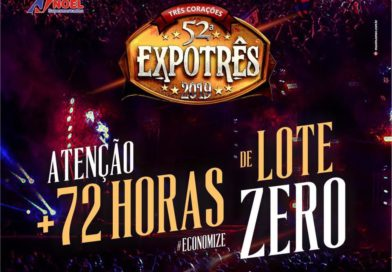 Mais 72 horas de 'Lote Zero' para ingressos da Exposição de Três Corações; confira