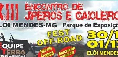 13° encontro de Jipeiros e Gaioleiros acontece na próxima semana em Elói Mendes