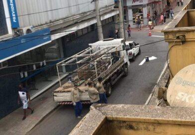 Prefeitura de Varginha inicia obras de revitalização na Rua Delfim Moreira