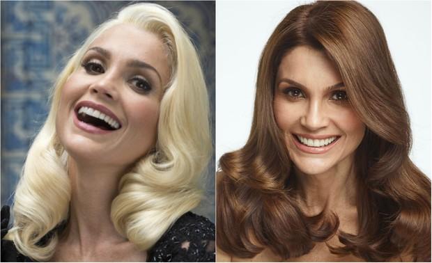 Flávia Alessandra muda o visual: compare o antes e depois (Foto: Estevam Avellar / Globo | Divulgação / Niely)