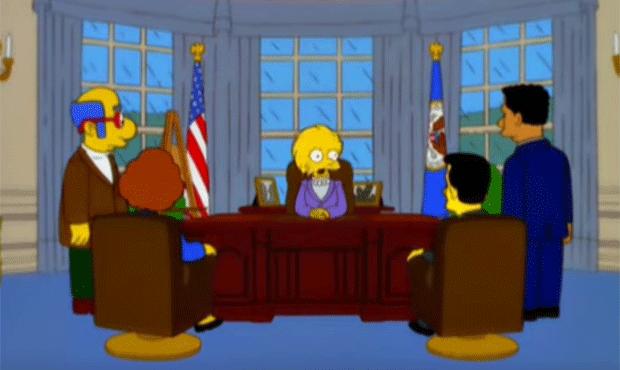 Em episódio de 2000, Lisa Simpson é eleita presidente e herda dívida de Donald Trump (Foto: Reprodução/YouTube)