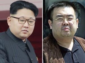 Combinação de fotos mostra Kim Jong-un, líder da Coreia do Norte, e seu meio irmão Kim Jong-nam (à direita) (Foto: AP Photos/Wong Maye-E, Shizuo Kambayashi, File)